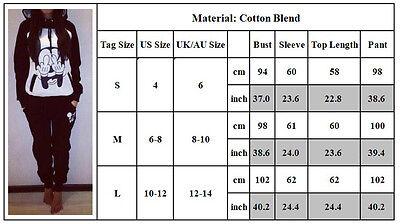 Damen Mickey Maus Trainingsanzug Kapuzenpullover mit Jogginghosen Sports Anzug