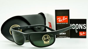 0f00f5f9908 RAY-BAN PREDATOR 2 Rare Blackout-Green Classic G-15 RB2027 W3327 62mm