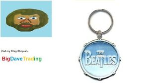 Beatles-Apple-Key-Ring-Keychain-All-Metal-Beatles-Drum