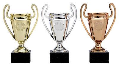 Pokal 3er Serie Champions League Pokale gold silber bronze incl. Gravur