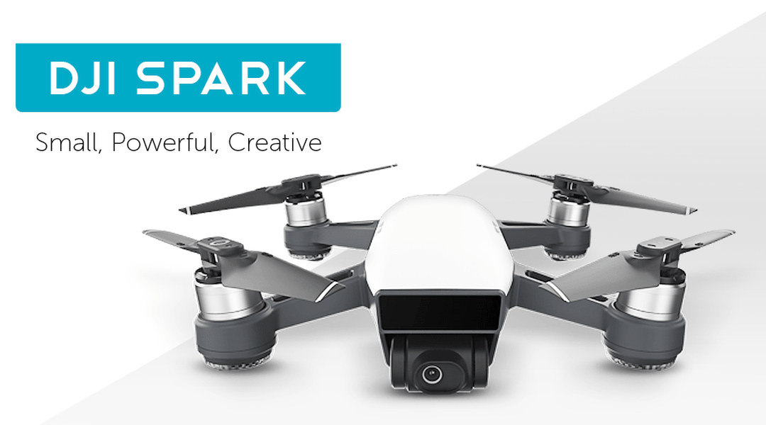 DJI Spark Mini Quadcopter Drone - Alpine White - 1080P Video 12MP Photos