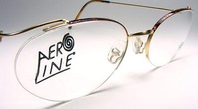 Cateye Semi-Rimless Lightweight Eyeglass Frame France Vintage Gold or Black New