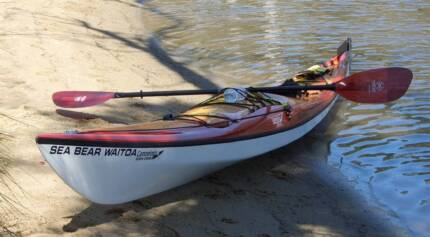 "NZ Paddling Perfection ""Sea-Bear Waitoa"" Kevlar Sea Kayak Ardross Melville Area Preview"