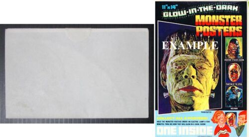 1975 Universal Monsters The Wolfman Poster Still SEALED Post Cereal Premium Glow