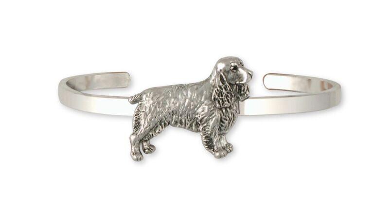 Springer Spaniel Bracelet Jewelry Sterling Silver Handmade Dog Bracelet SS3-CB