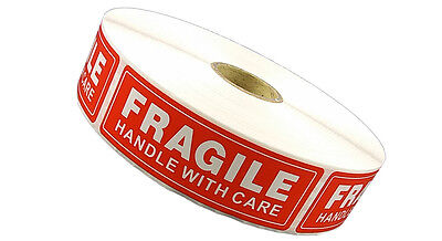 1 Roll 1 X 3 Fragile Handle With Care Stickers 1000 Per Roll