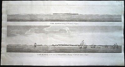 Antique map, Cape Blanco bearing S.W. distant 5 leagues / Cape Blanco …