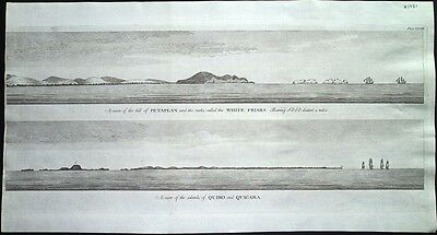 Antique map, Petaplan / White Friars / The islands of Quibo and Quicara