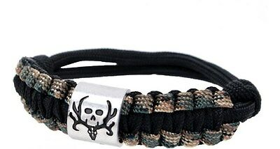 Bone Collector Paracord Survival Bracelet - Camo Camouflage Rope - Camouflage Jewelry