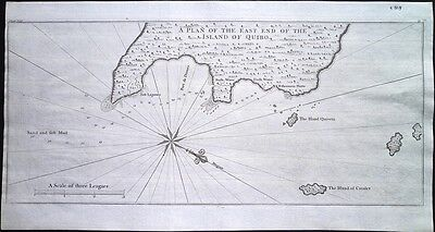 Antique map, A plan of the east end of the island of Quibo