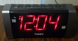 Timex T235 AM/FM Dual Alarm Clock Radio With Jumbo Display & Line In Jack NICE!