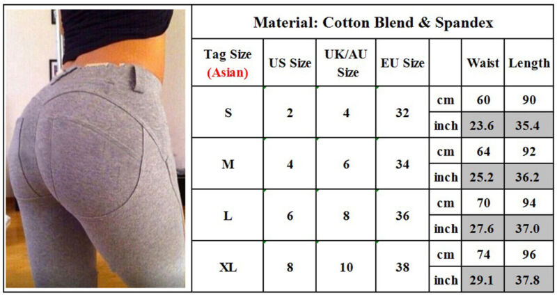 Women Skinny Jeggings Jeans Stretch Pencil Pants Bottoms Tight Trousers Leggings Clothing, Shoes & Accessories