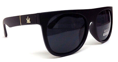 BLACK GOLD MARIJUANA WEED LEAF SQUARE FLAT TOP SUNGLASSES RETRO HIP HOP VTG (Weed Shades)