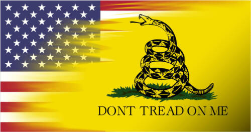 USA & Dont Tread On Me Gadsden  Flag Vinyl Decal Sticker Made In the USA Glossy