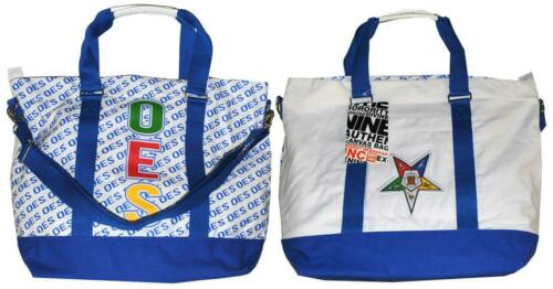 Order of the Eastern Star OES Canvas Bag-White/Blue-New!