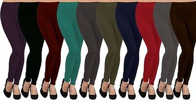 Fleece Lined Warm Comfy Footless Stretch Skinny Leggings O/S Comfy Footless Leggings