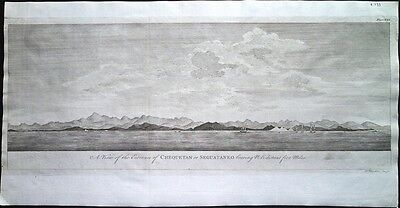 Antique map, A view of the entrance of Chequetan or Seguataneo
