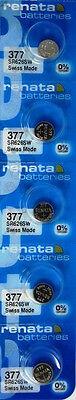 377 Renata SR626SW Battery 5 Pack