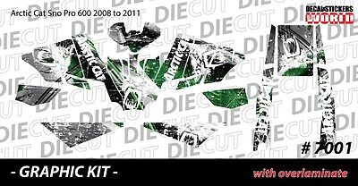 SLED GRAPHIC STICKER DECAL WRAP KIT ARCTIC SNO PRO 600 RACER 2008-2011   7001