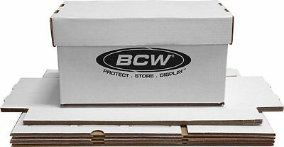 5 BCW 45 RPM 7 Inch Record Cardboard Storage Boxes Juke Each Holds 150 Discs