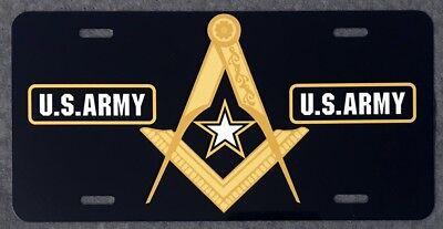 Masonic U.S. Army Full Color Auto Plate