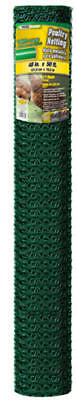 Gb 308457b 48 X 50 Ft 1 Mesh Green Pvc Coated Poultry Netting Chicken Wire