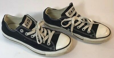 CONVERSE All Star Low Top Chuck Taylor Shoes Black White Mens 5 Womens 7 M9166