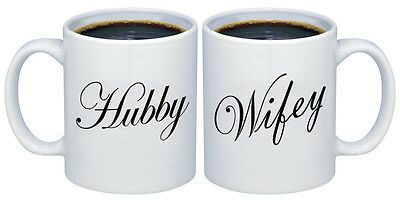 Hubby   Wifey Valentines Gifts For Couples Coffee Mugs Mcpl105