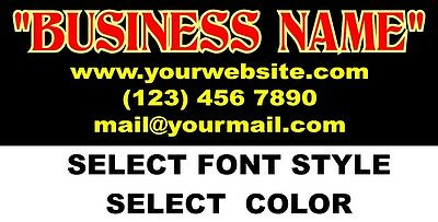 Custom Vinyl Lettering Personalized Business Name Logo Sticker Decal 40-15