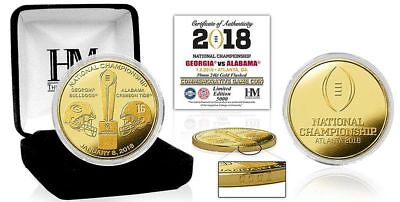 2018 College Football National Championship Bama v Georgia Gold Mint Coin