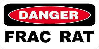 3 - Danger Frac Rat Oilfield Hard Hat Helmet Sticker H537