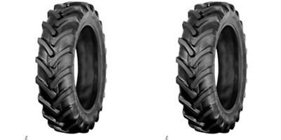 Two 9.5x16 9.5-16 R1 6 Ply Bar Lug John Deere Tractor Tires Tubeless Tires