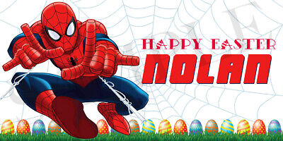 Spiderman Easter Basket Sticker, Waterproof and Personalized](Halloween Baskets Personalized)