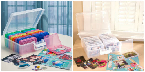 1600 PHOTO PICTURE ORGANIZER CARRY CASE BOX ACID FREE Stores Protect Holds 4 x 6