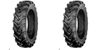 Two Galaxy 7-16 7x16 Traction Lug Tractor Tires Tubeless 6ply Rated
