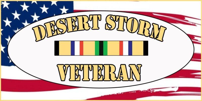 """Desert Storm Veteran Bumper Sticker - 4""""x8"""""""