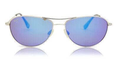 Maui Jim Baby Beach B245-17 Silver / Blue Hawaii Polarized Aviator (Baby Aviators Sunglasses)
