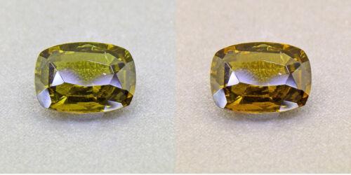 Alexandrite Untreated Ceylon Olive Green 1.57 Ct. Certified (00420)