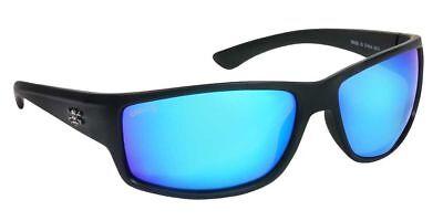 Calcutta Rip Sunglasses, Matte Black Frame/Blue Mirror -
