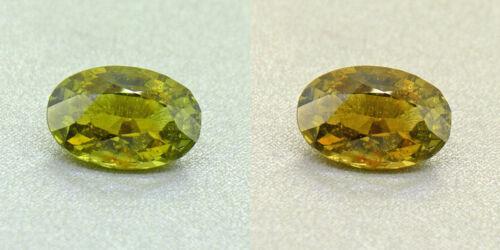 Untreated Ceylon Olive Green Alexandrite  2.24 Ct. Certified (00419/fk8-3170315)