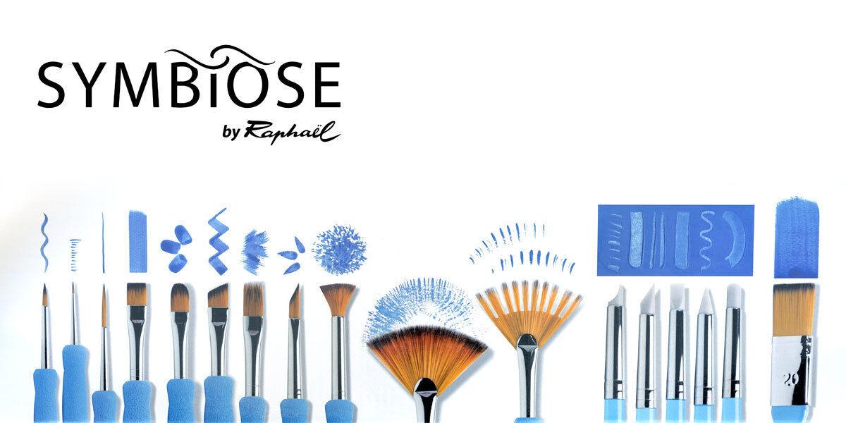 Feine Kunsthaar Pinsel Raphael SYMBIOSE Softgrip für Aquarellfarbe Acrylfarbe