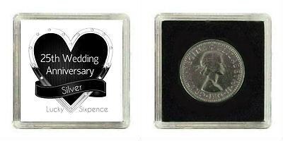 E COIN 25TH SILVER WEDDING ANNIVERSARY GIFT KEEPSAKE  (25th Wedding Anniversary Favors)