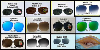 Authentic RayBan 2132 New Wayfarer Lenses in All Colors, All Sizes, U Pick (Rayban New Wayfarer Sizes)
