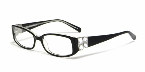 Calabria Viv Designer Reading Glasses 4022 in Black Crystal