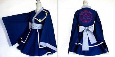 NEW Full Metal Alchemist Roy Mustang Female Kimono Dress Cosplay costume FF.2011