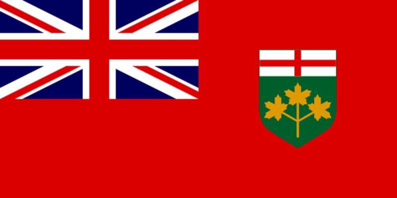 ***ONTARIO CANADA VINYL FLAG DECAL / STICKER***