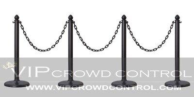 PLASTIC STANCHION SET IN BLACK, VIP CROWD CONTROL