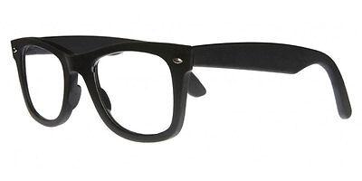Modische Lesebrille Lesehilfe für Herren u. Damen Nerdbrille matt schwarz TCB300