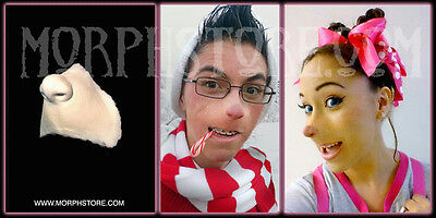 Foam Latex Masks (Halloween Foam latex Who Nose Face Brows Mask lot.)