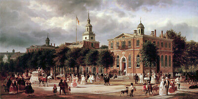 Independence Hall in Philadelphia Ferdinand Richardt - CANVAS OR PRINT WALL ART